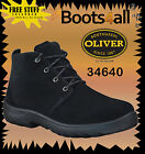 Oliver Steel Toe Work Boots 34640 Black desert Boot Brand New *All Sizes