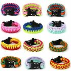 1pc Paracord 550 Survival Bracelet FOR Camp BUSH Wristband 10 Colors OUTDOOR Use