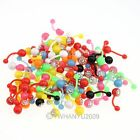 10x wholesale mix Random color acrylic tongue lip piercing body jewelry piercing