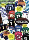 "2 NFL FOOTBALL BUILD YOUR TEAM JERSEY STICKERS 3""x3.5"" ADD YOUR NAME & NUMBER!"