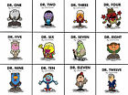 Doctor Who Mr Men mash up Canvas 8x8 Prints