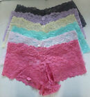 Ultra Lacy Boxer Shorts Pink Grey Lilac Salmon Yellow Blue New