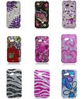 For HTC Droid Incredible 4G LTE 6410 Fireball Verizon Bling Gem Cover Case