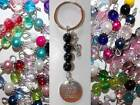 Musical Note - Live Your Dream Bead Key Chain MULTIPLE DESIGNS Singer Band Music
