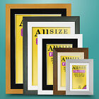 Picture Photo Poster Movie Frame SILVER Colour with MOUNT - FLAT Shape ALL Size