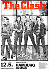 THE CLASH ..1980 Hamburg Germany Retro Concert Promotional Poster A1A2A3A4Sizes
