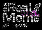 The REAL Moms of - TRACK - Rhinestone Iron on Transfer Hot Fix Sport Mom