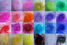 24 COLORS 5 METERS VOILE FABRIC ORGANZA DRAPING SWAGS CHAIR BOWS WEDDING DEC