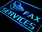 i149-b OPEN Fax Services Shop Ads Ad Display Light Sign