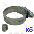 PACK 5 x GENUINE JUBILEE PIPE HOSE CLIPS STEEL - VARIOUS SIZES FROM 9mm to 50mm