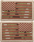 "Multi Cam USA Flag Military American Velcro Flag Patch 1-7/8"" x 3-1/4"""