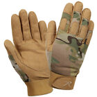 Padded Knuckle Anti Slip Silicone Finger Tip Shooting Duty Gloves - Multicam