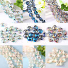 10/50 Faceted Glass Crystal Spacer Beads Jewelry Making DIY Finding 14mm 4 color