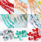 95/475pcs Faceted Glass Crystal Spacer Square Bead Jewelry DIY 4.5x4.5mm 6 Color