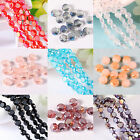Whosale 100/500pcs Faceted Glass Crystal Spacers Beads Jewelry DIY 6mm 10 Colors