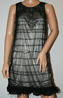 159. MA Black Lacy Frilled Summer Dress Size 12/14 New
