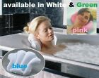 Bath Pillow Terry Towel Shell Shape Suction Mount PINK WHITE or GREEN