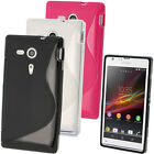 S Line TPU Gel Skin Case Cover for Sony Xperia SP C5302 C5303 + Screen Protector