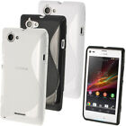 S Line TPU Gel Skin Case Cover for Sony Xperia L C2104 C2105 + Screen Protector