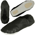 Внешний вид - Rubber Sole Gymnastic Shoes Goat Leather Gymnastics Shoe kids or Adult Size, BLK
