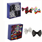 4pairs Chic Mixed Lovely Sweet Girls Women's Bowknot Bow Tie Ear Studs Earrings