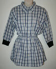R & R Blue & White Check Top / Dress One Size 10 - 14