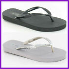 "Ladies F0495 Glitter Band Beach Flip Flop    "" 2 Colours ""   £2.99 ****"