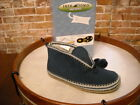 Deer Stags Slipperooz Mutsy NAVY Microsuede Slipper Booties NEW