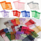 100pcs Multi Color Organza Wedding Favor Xmas Gift Bags Jewelry Pouch 13*18cm