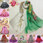 New Women's Fashion Georgette Long Wrap Shawl Beach Silk Scarf Pastoral Style