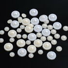 Acrylic Pearl Imitation Embellishments Wedding Craft Flatback Flower M1045