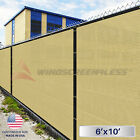 6'x10' Feet Fence Screen Cover Mesh Windscreen Fabric Privacy Shade Mesh W/Zip