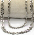 Unique Mens Womens Guarantee 316L Stainless Steel Boston Rolo Chain Necklace