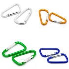 20 PCs Carabiners Climbing Camp D-Ring Keychains Clips Hooks 4.7cmx2.6cm M1464