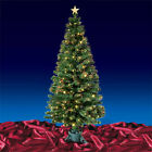 Green Fibre Optic Artificial Indoor Christmas Tree With LED Tips 4ft 5ft or 6ft