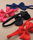 New 10cm Grosgrain Ribbon Tie Knotted Bow Long elasticated Forehead / Hair Band
