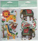 U CHOOSE  Jolee's COLORFUL JUNGLE ANIMALS FANCY ELEPHANTS 3D Stickers animal