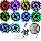 5M 5050 RGB SMD LED Strip Light Lamp +44Keys IR Remote +Power Supply Adapter UK