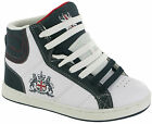 BOYS ANKLE HI HIGH TOP TRAINERS BOYS SKATE BASEBALL SCHOOL BOOTS SHOES SIZE 13-6
