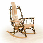 Rustic Hickory Flat Arm Rocker - Wood and Quantity Option...