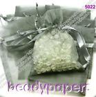 10 Organza Gift Bags with Matching Ribbon 15 cm x 10 cm 6 x 4 inch 12 Colours