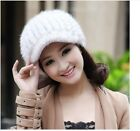 90277 new real knitted mink&wool line fur 6 color hat/caps