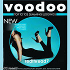 Voodoo New Ladies Top To Toe Slimming Control Compression Shaper Leggings Black