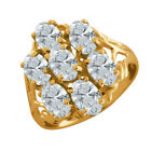 Nirano White 14K Yellow Gold Ring Made With Swarovski Zirconia
