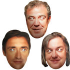 Top Gear Super cars BBC TV Show Celebrity Presenters Face Mask Hen & Stag Party