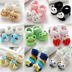 Baby Newborn Unisex Indoor Anti-slip Warm Socks Animal Cartoon Shoes Boots 0-6M