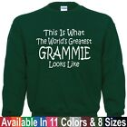 Worlds Greatest GRAMMIE Mothers Day Christmas Nana Mom Gift Pullover Sweatshirt