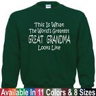 Worlds Greatest GREAT GRANDMA Mothers Day Christmas Gift Pullover Sweatshirt