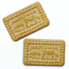 Set of 2 Malted Milk biscuit fridge magnets. Realistic novelty strong magnet.