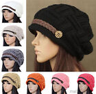 New Womens Braided Warm Rageared Baggy Winter Beanie Knit Crochet Ski Hat Caps